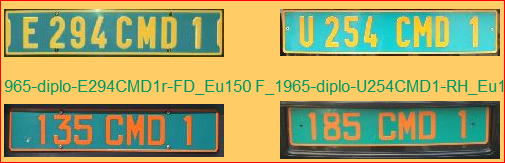 Diplomatic French Plates
